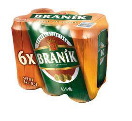 Braník světlé výčepní pivo - Fassbier 6er Pack