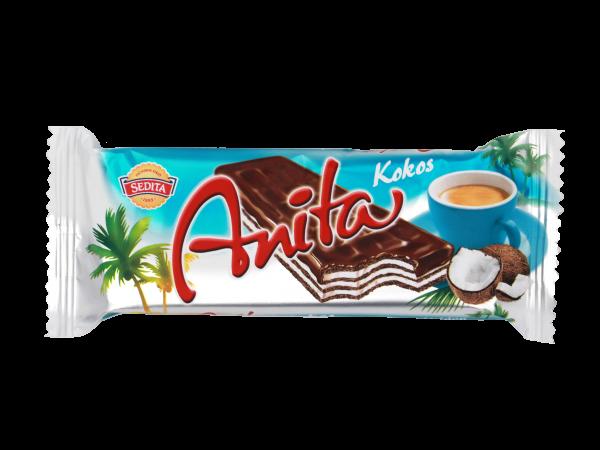 Sedita Anita oplatka kokos - Anita Rezy Dunkle Waffeln mit Kokoscremefüllung