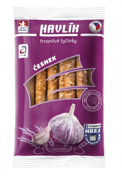 Havlík tyčinky česnekové trvanlivé - Käse-Salzstangen Cesnek Knoblauch