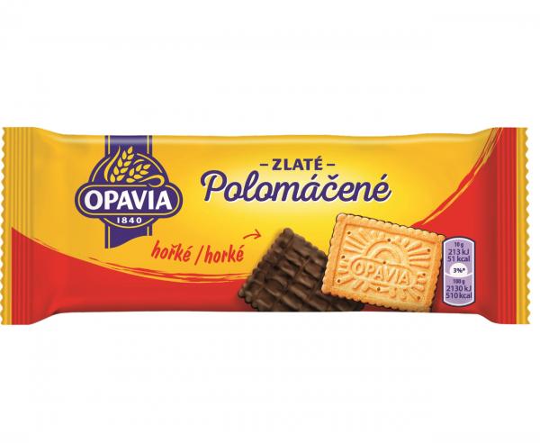 Opavia Polomáčené hořké - Keks mit Zartbitterschokolade