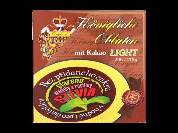 Královské Oplatky Kakao LIGHT - für Diabetiker