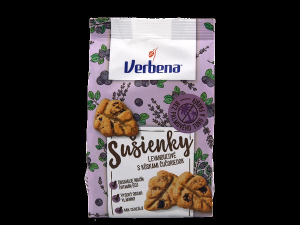 Verbena Sušienky levanduľové s kúskami čučoriedok - Eisenkraut-Lavendel-Kekse mit Blaubeerstücken