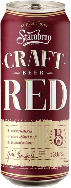 Starobrno Craft Red ochucené višňové pivo - Kirschbier