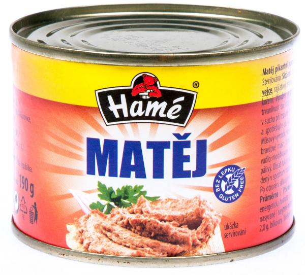 Hamé Matěj pomazánka pikantní - Pastete - Matej pikant