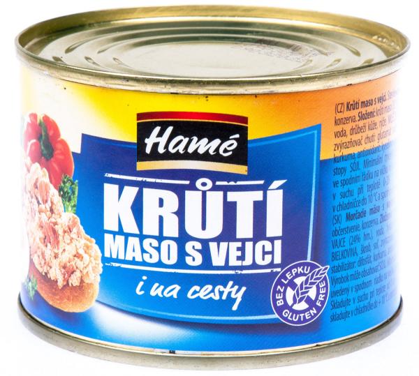 Hamé Krůtí maso s vejci - Putenfleisch mit Ei Brotaufstrich