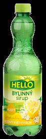 Bylinný sirup bezový květ citron Holunderblüten Zitrone extra dick