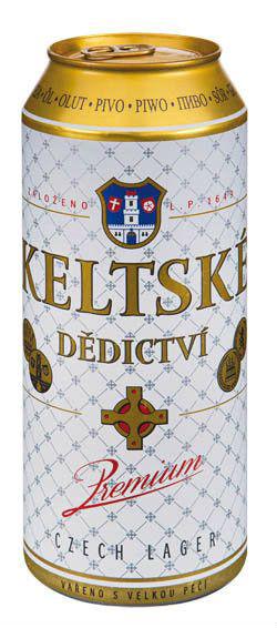 Keltské dědictví 5% světlý ležák pivo - leichtes keltisches Lagerbier