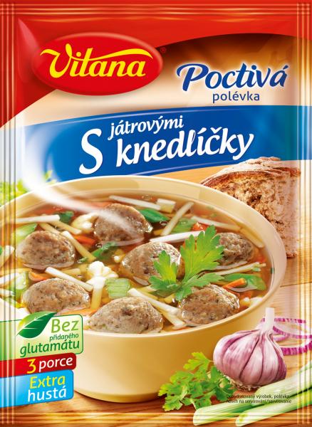 Poctivá polévka s játrovými knedlíčky - Leberknödelsuppe