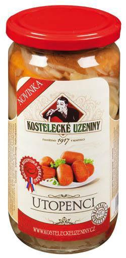 Kostelec Utopenci špekáček - Würste sauer eingelegt