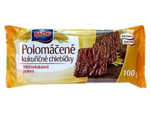 Racio Chlebíčky kukuřičné s polevou mléčno-kakaovou