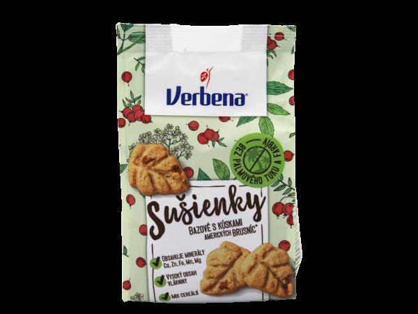 Verbena Sušienky bazové s kúskami amerických brusníc - Kekse mit Stücken amerikanischer Preiselbeeren