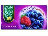 Ovocne Caje Boruvka/Jahoda mit Heidelbeer-Erdbeergeschmack