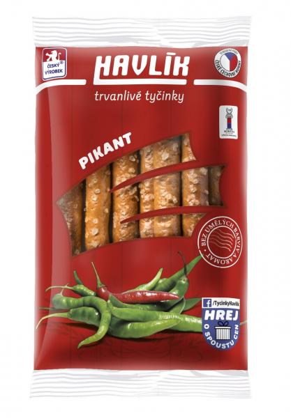Havlik Trvanlivé tyčinky sýr, sůl, pikant - würzige Käse-Salzstangen