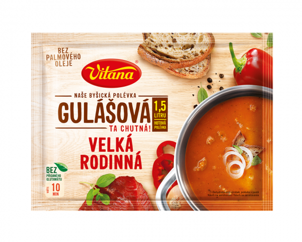 Velká rodinná Polévka gulášová - große Familien - Gulaschsuppe