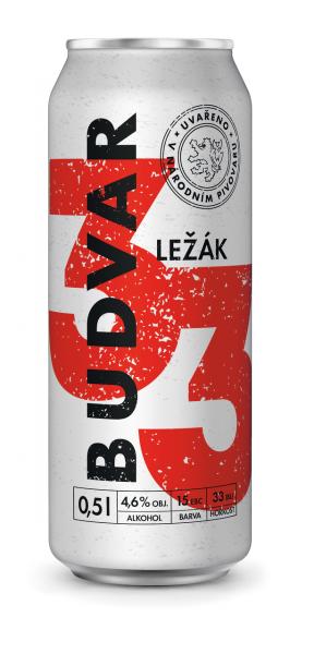 Budvar B:33 Ležák světlé pivo - helles Lagerbier
