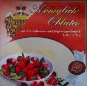 Královské Oplatky mit Preiselbeer-Joghurtgeschmack
