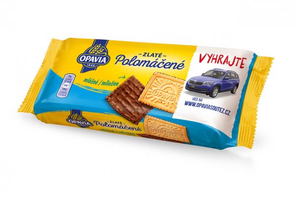 Opavia Polomáčené mlécné - Keks mit Vollmilchschokolade