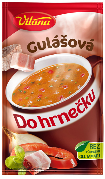 Do hrnečku gulášová - Gulaschsuppe 1 Tasse
