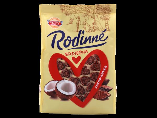 Sedita Rodinné Srdíčka kokosovo-kakaové - Familien Herzen Kokos-Kakao