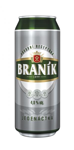 Braník 11 světlý ležák pivo - Branik Lagerbier 11 - 6er Pack