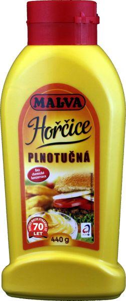 Hořčice plnotučná MALVA - vollfetter Senf