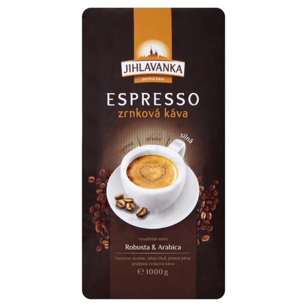Jihlavanka Espresso káva zrno 1kg - Espresso