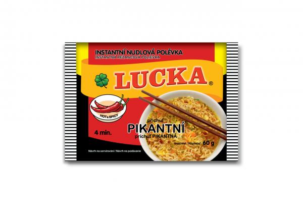 Lucka Polévka instantní nudlová pikantní - Lucka Suppe Instant Nudel scharf