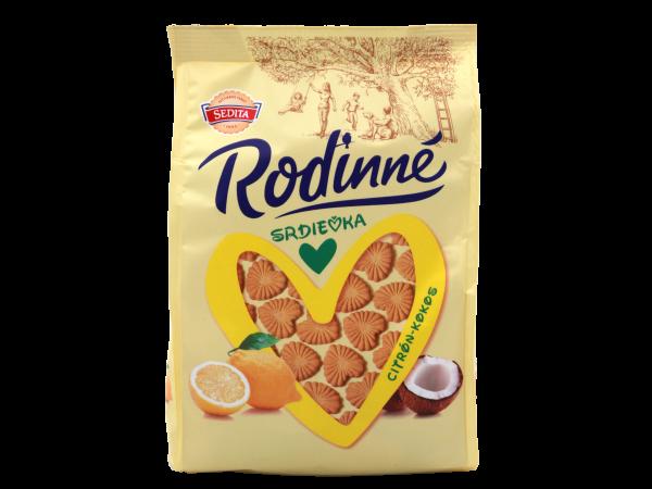 Sedita Rodinné Srdíčka kokosovo-citronové - Familen Herzen Kokos-Zitrone