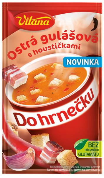 Do hrnečku ostrá gulášová - Würziges Gulasch 1 Tasse