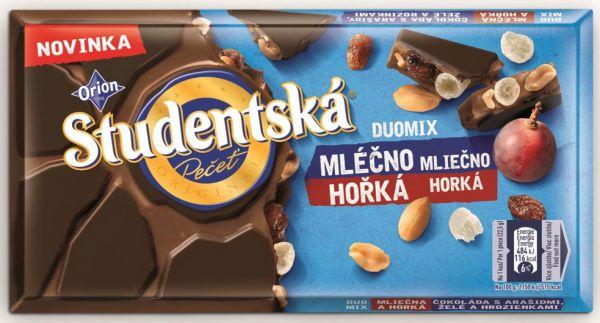 Studentska DUOMIX Horka Mlecna - Bitter und Vollmilchschokolade