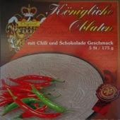 Královské Oplatky mit Chilli-Schokolade