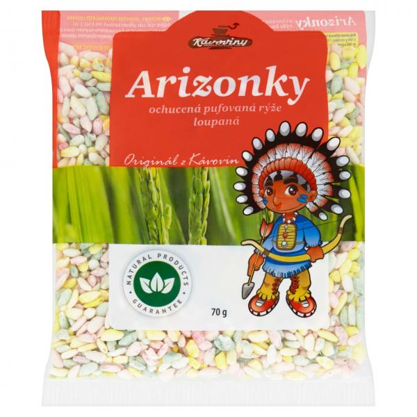 Kávoviny Arizonky ochucená pufovaná rýže loupaná - bunter Puffreis