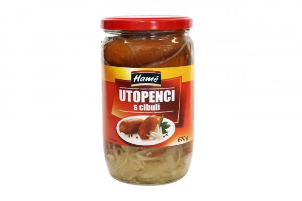 Hamé utopenci+cibule - Würste sauer eingelegt