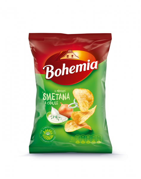 Bohemia Chips Smetana/Jarní Cibulka - Sour Cream & Onion Chips