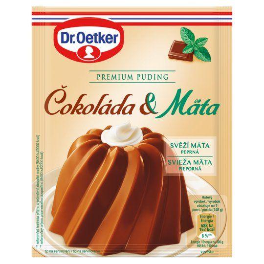 Premium Pudding Cokoláda / Mäta - 3er Pack - Schoko/Minze